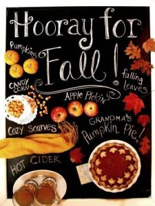 Hooray for fall
